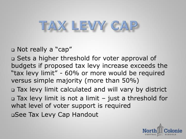 Tax levy cap