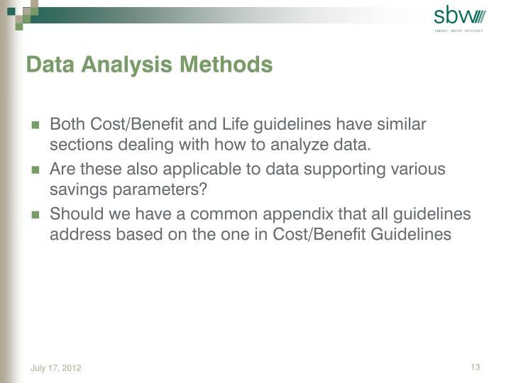 Data Analysis Methods