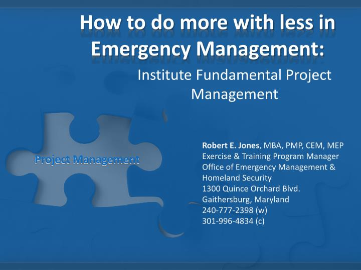 how to do more with less in emergency management n.