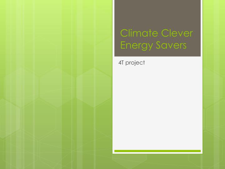 climate clever energy savers n.