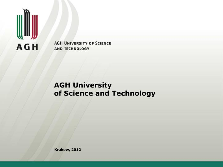 agh university of science and technology n.