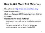 how to get more test materials