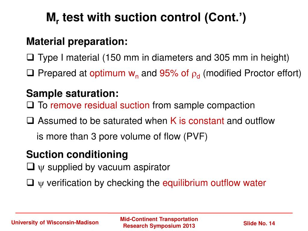 PPT - Effect of Matric Suction on Resilient Modulus of