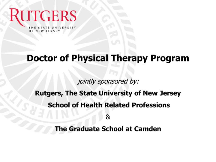 doctor of physical therapy program n.