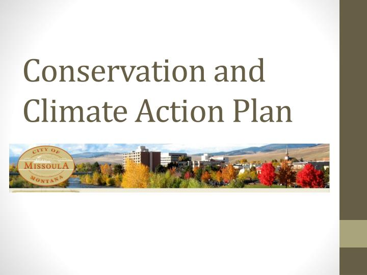 conservation and climate action plan n.