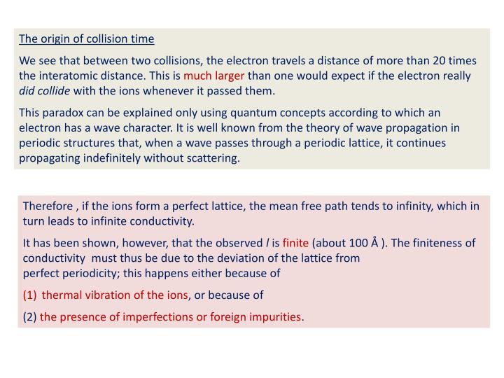 The origin of collision time