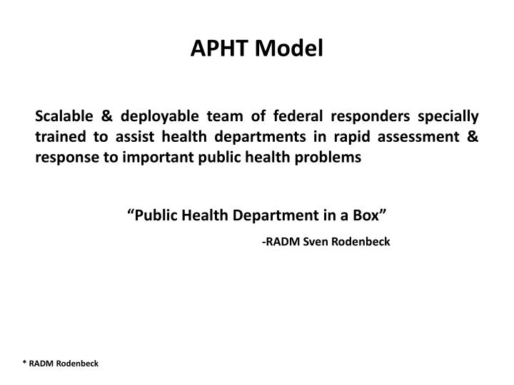 APHT Model