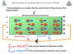 mechanisms to conduct electric current drift i