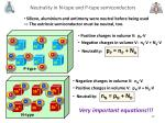 neutrality in n type and p type semiconductors