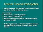federal financial participation
