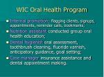 wic oral health program