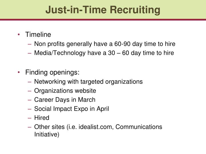 Just-in-Time Recruiting