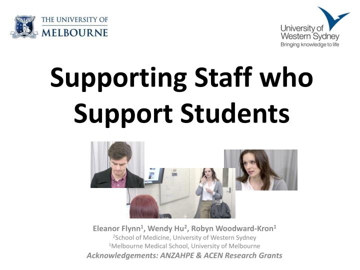 supporting staff who support students n.