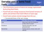 everyday uses of some fossil fuels
