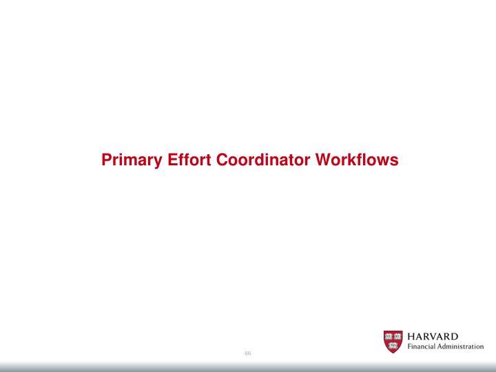 Primary Effort Coordinator Workflows