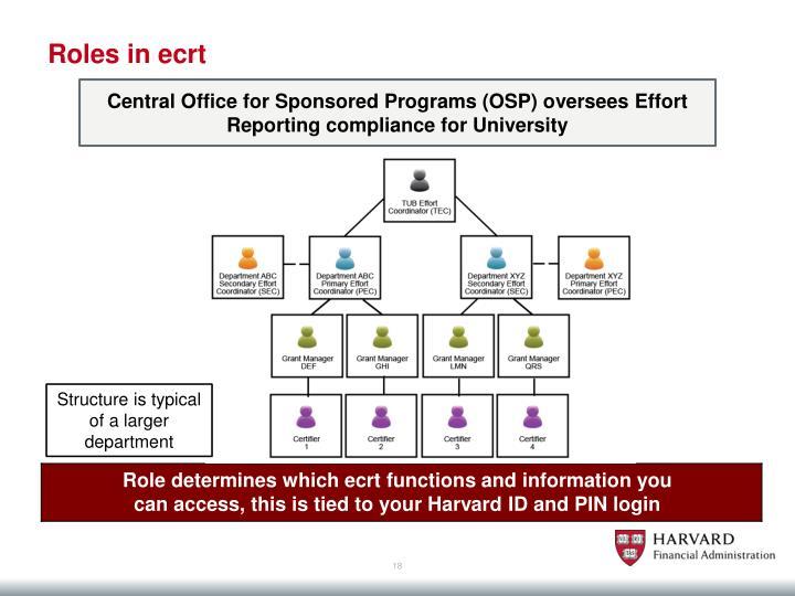Roles in ecrt