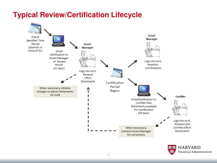 Typical Review/Certification Lifecycle