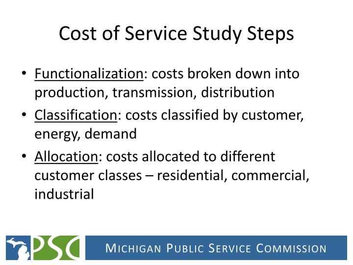 Cost of Service Study Steps