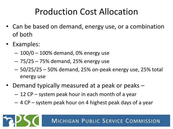 Production Cost Allocation