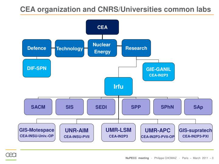 CEA organization and CNRS/Universities common labs