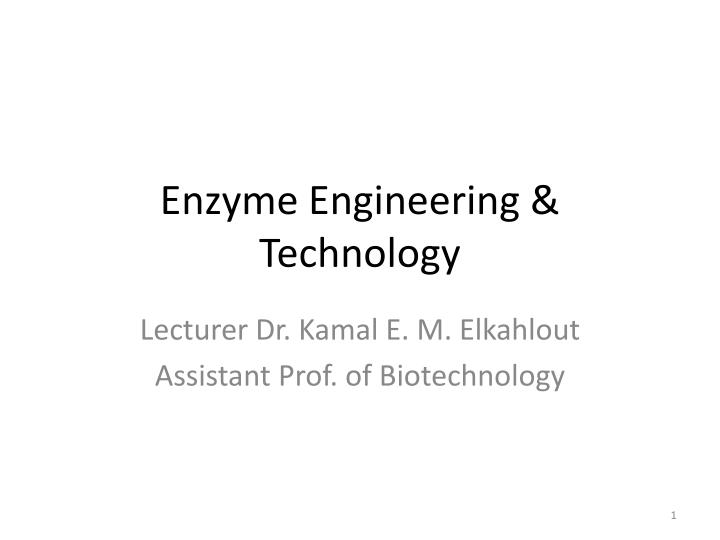 enzyme engineering technology n.