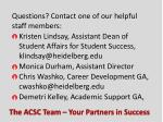 the acsc team your partners in success