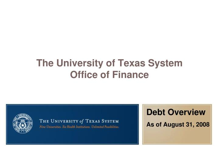 the university of texas system office of finance n.