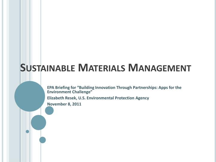 sustainable materials management n.