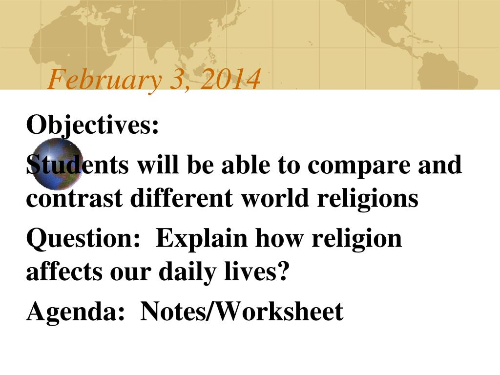 PPT - Religions of the World - an overview PowerPoint