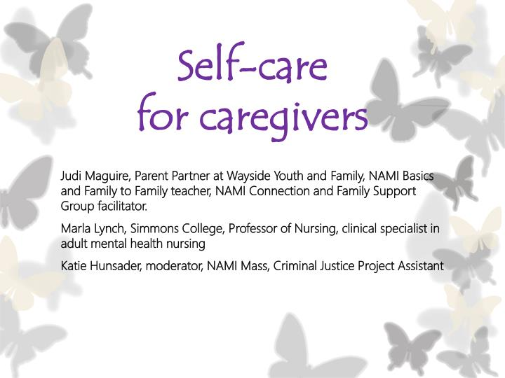 self care for caregivers n.