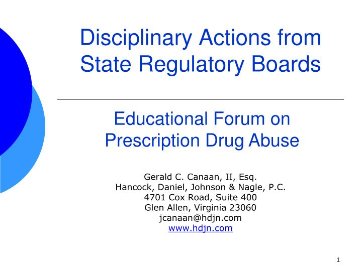 disciplinary actions from state regulatory boards n.