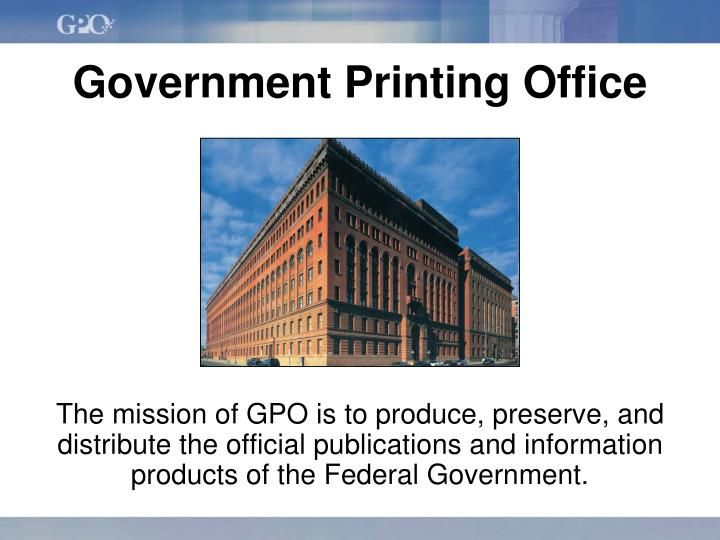 government printing office n.