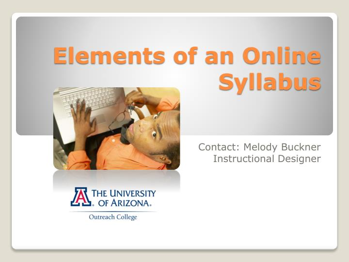 elements of an online syllabus n.