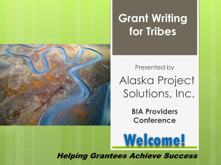 grant writing for tribes n.