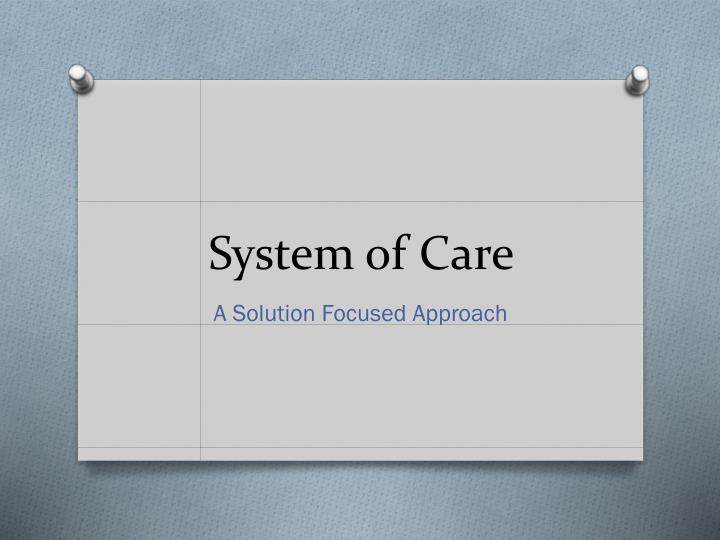 system of care n.