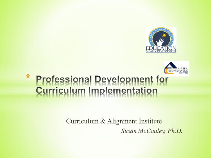 professional development for curriculum implementation n.