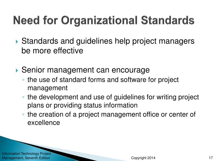 Need for Organizational Standards