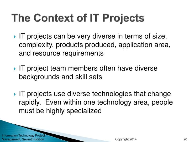 The Context of IT Projects