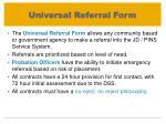 universal referral form