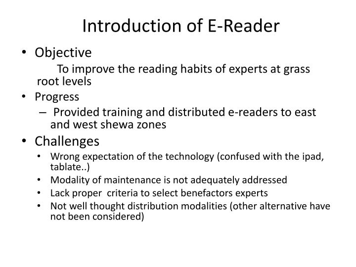 Introduction of E-Reader