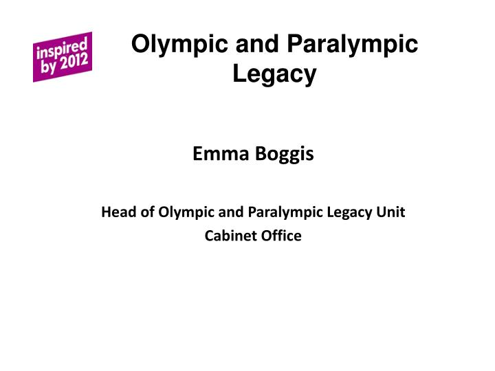 olympic and paralympic legacy n.