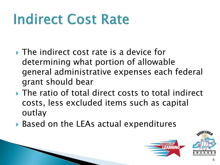 Indirect Cost Rate