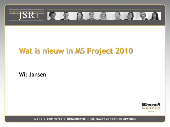 wat is nieuw in ms project 2010 n.