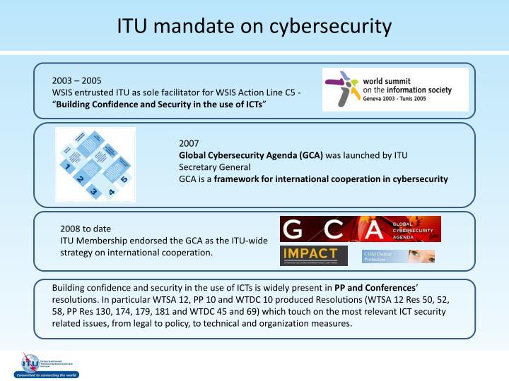 ITU mandate on cybersecurity