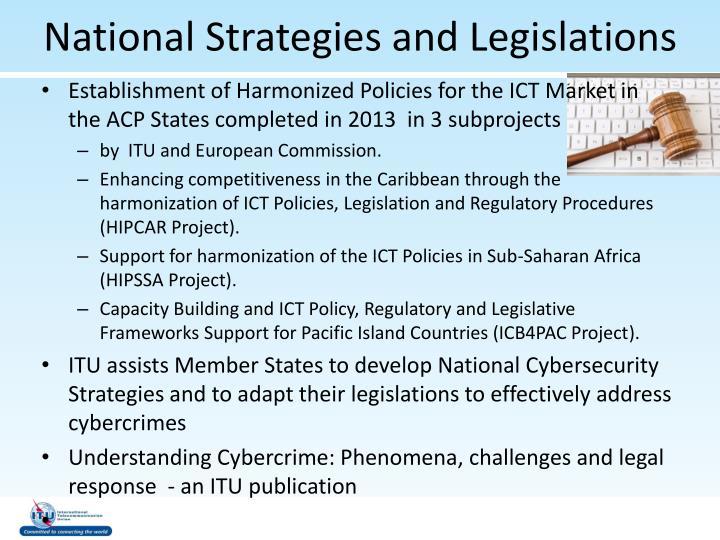 National Strategies and Legislations