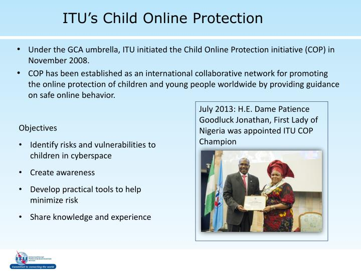 ITU's Child Online Protection