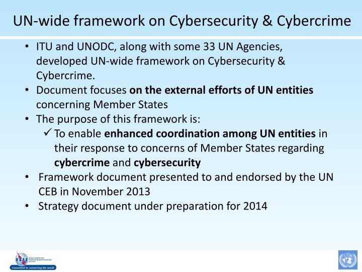 UN-wide framework on Cybersecurity