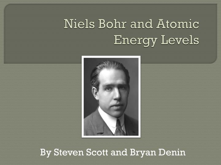 niels bohr and atomic energy levels n.