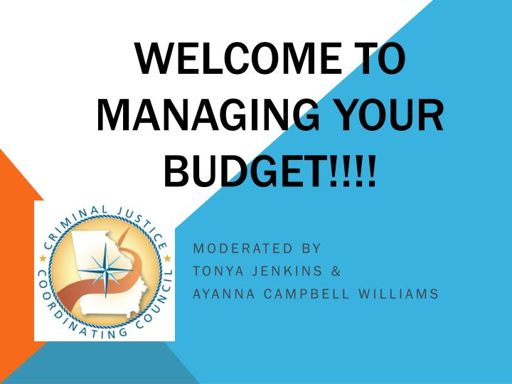 welcome to managing your budget n.
