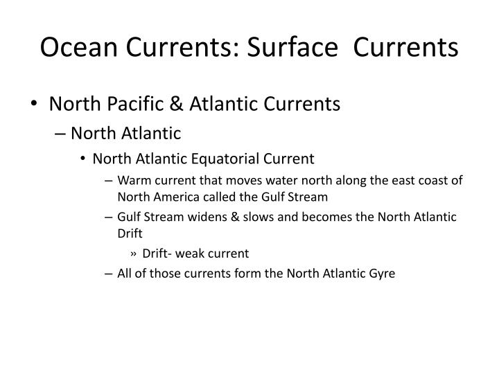 Ocean Currents: Surface  Currents